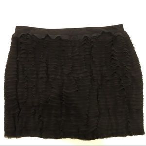 MICHAEL Michael Kors Black Ruffled Mini Skirt